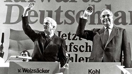 von Weizäcker mit Helmuth Kohl