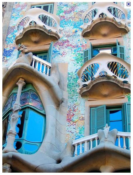 Gaudí. Casa Batllo, Barcelona, Spain