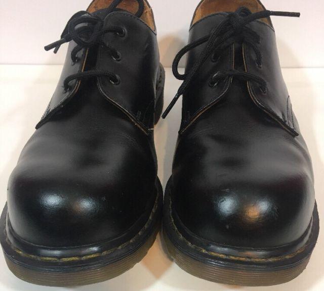DR DOC MARTENS Mens AW004 Black Smooth Oxford Shoes UK-10 EU-45 US-11 | eBay