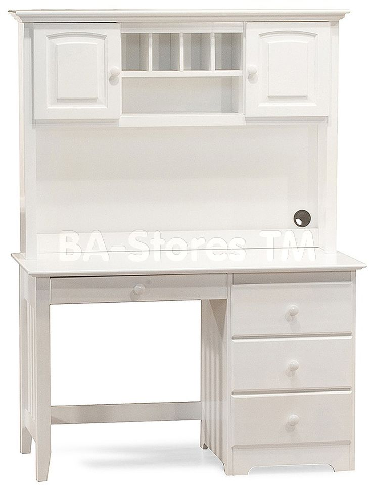 17 best ideas about white desk with hutch on pinterest desk with hutch computer desk with. Black Bedroom Furniture Sets. Home Design Ideas