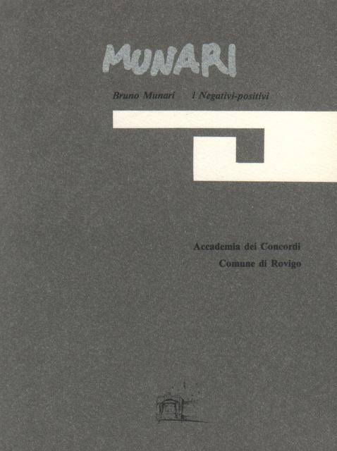 Bruno Munari: I negativi-positivi 1950