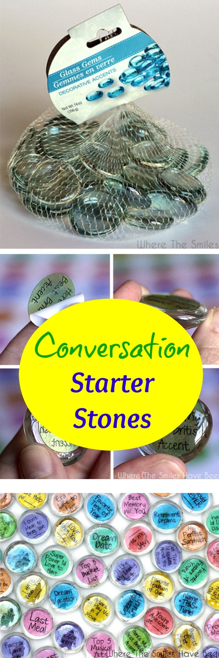 Make these and keep on hand for date nights ~ perfect to get the conversation started and to have some fun.