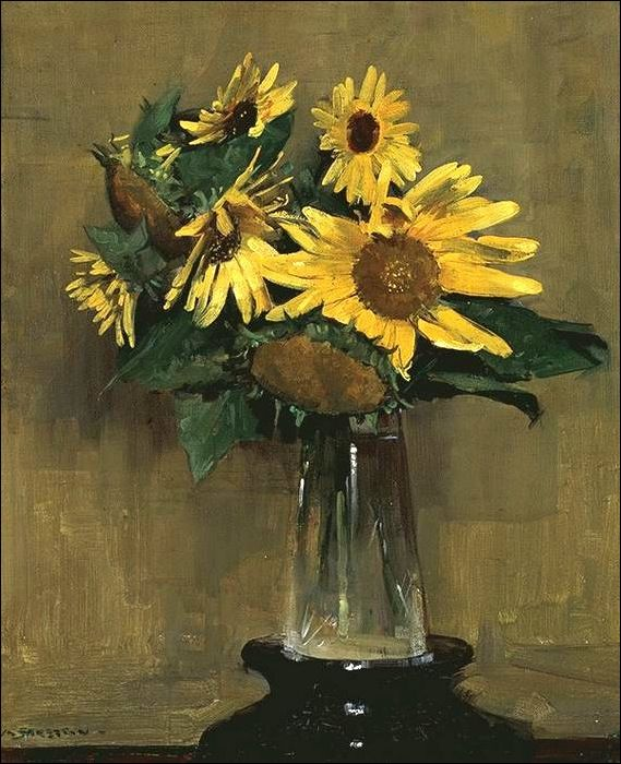 Sunflowers, 1926 - Sir Arthur Ernest Streeton (1867-1943) was an Australian painter best known for his landscapes. He was influenced by the French Impressionists and Turner.