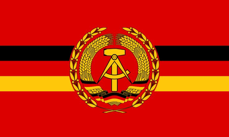 The Flag of warships of the Volksmarine of East Germany.
