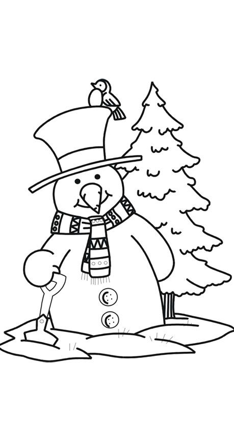 17 Best ideas about Snowman Coloring Pages on Pinterest
