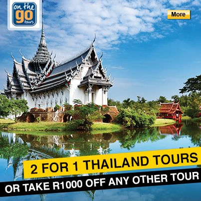 2 for 1 Thailand tours - save 50% til 15 November only on selected On The Go tours. #Thailand #StudentFlights #GoYourOwnWay