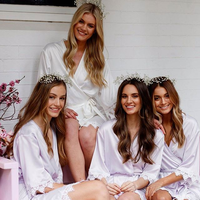 Say hello to our newest robe 'Amelia' she is now available online in 3 stunning colours! Tag your #bridetribe | ✨ AFTERPAY now available! Shop now and pay later 💗 LR xx