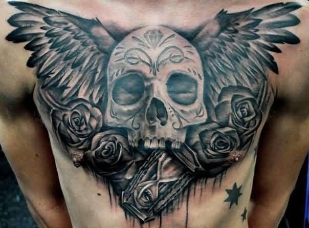 31 best gothic skull tattoo men images on pinterest