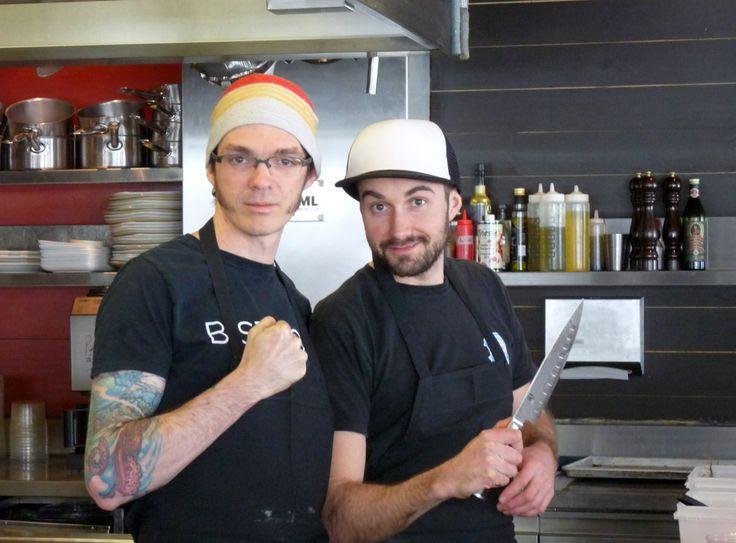 Maxime Fouquet et Marc-Antoine Lessard  Nos chefs du midi.