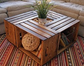 Rustic Crate Coffee Table (Reserved). $340.00, via Etsy.