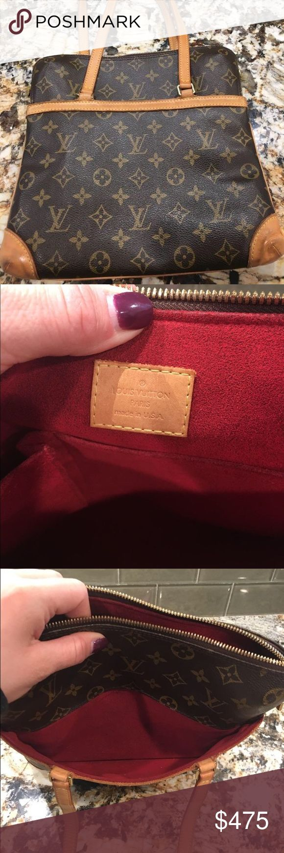 Authentic Louis Vuitton bag. Authentic Louis Vuitton shoulder bag in good used condition. Red lining.  With inside pockets. Louis Vuitton Bags Shoulder Bags