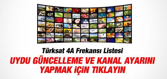 Türksat 4A Yeni Uydu Frekans Listesi Yayınlandı