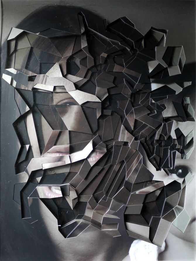 cut-out, collaged portraits by Lucas Chimello Simões