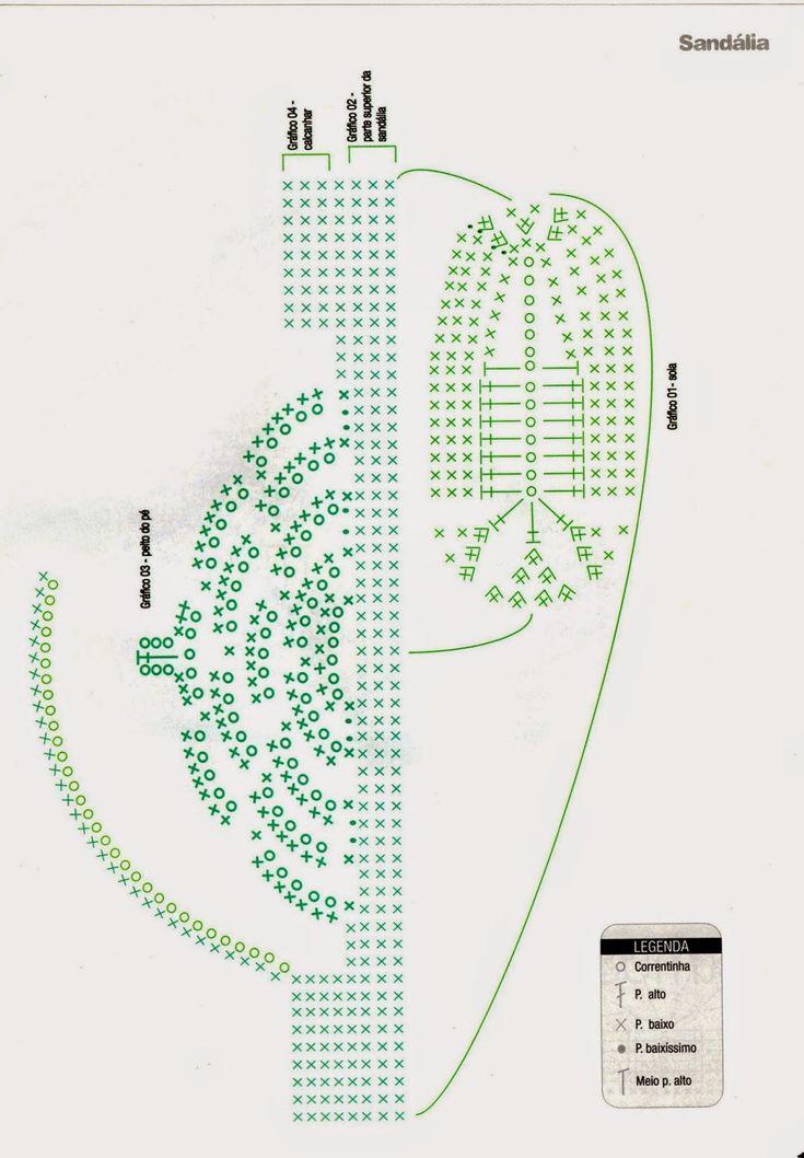 crochet sandal diagram 162 best images about zapatos y pantuflas on pinterest ...