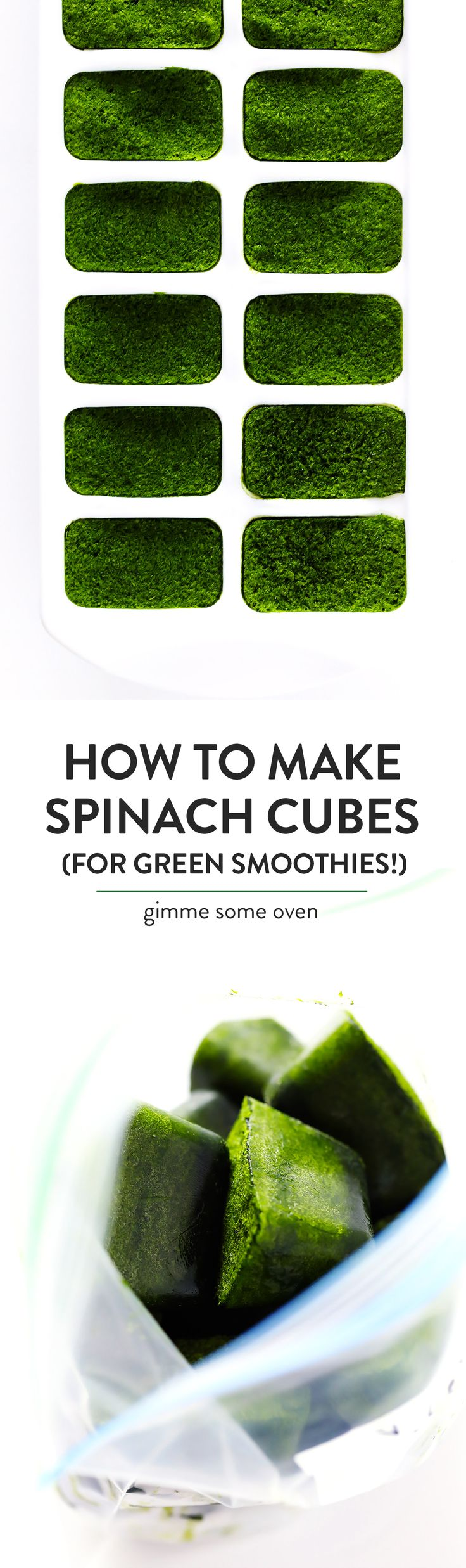 How to freeze spinach for your green smoothies and other