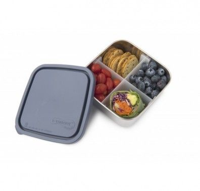 U-Konserve-- It's like having a few containers in one with our removable divider! Use our 32-oz. BPA-free leak-proof stainless steel container with divider as a non-toxic alternative to plastic containers. This reusable bento-box-style lunchbox favorite is the perfect on-the-go solution for entrees like sandwiches, salads and cut fruit. Also use for takeout, salad bars, and to store your leftovers in the refrigerator or to bring them to the office the next day. Extreme temperature changes…