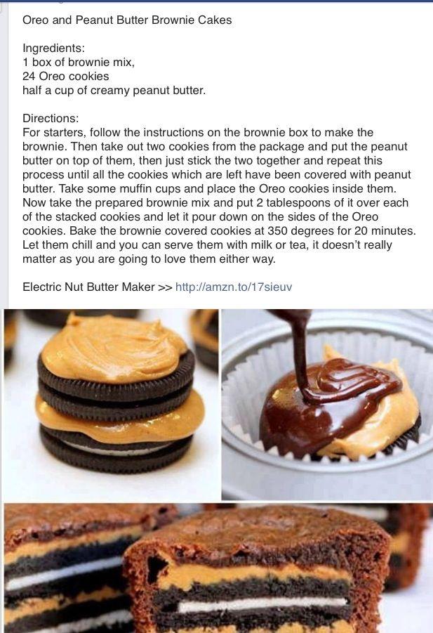 Oreo peanut butter brownie cake | Sweet Treats | Pinterest
