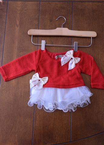 Girls Red Christmas Sweater Dress