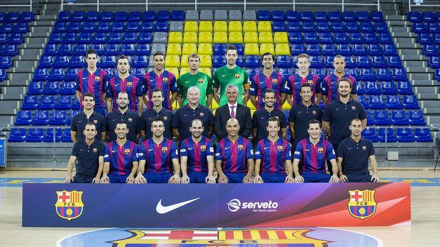 Foto oficial del FC Barcelona de fútbol sala / Foto: G. Parga