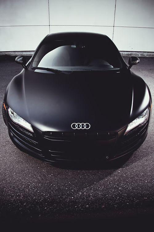 Matte black Audi R8. sick as hell