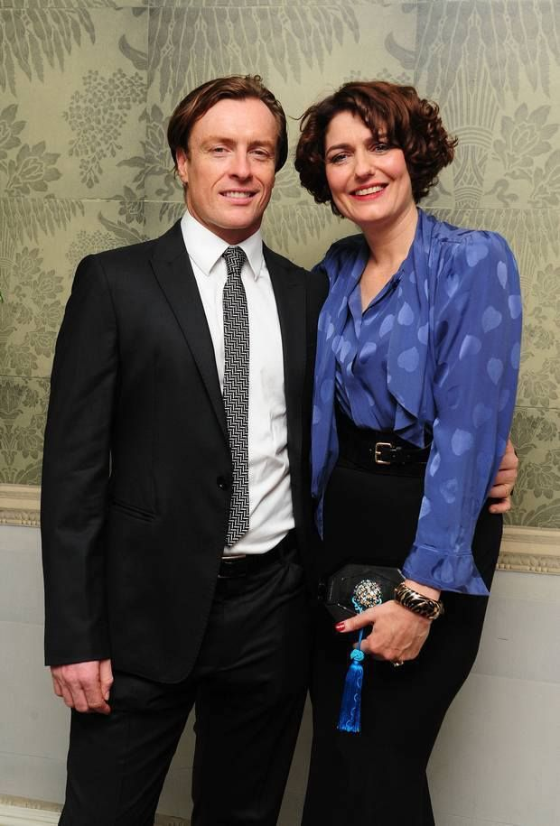 Anna Chancellor with and M.C.L by Matthew Campbell Laurenza clutch, 2013