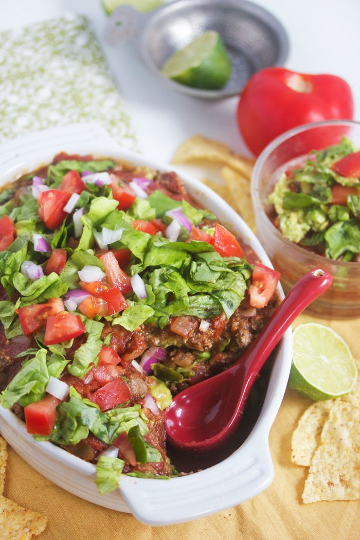 Gluten/dairy free 7 layer Mexican dip (no cheese )
