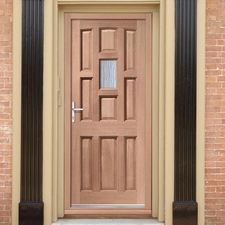 The exterior York mahogany door is fitted with toughened single obscure glazing and in two standard sizes. #traditionaldoor #externloakdoor #fronttraditionldoor