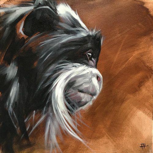 "Original animal paintings by California artist, Aimée Rolin Hoover: ""The Emperor"" / 20"" x 20"" / aimeehoover.com"
