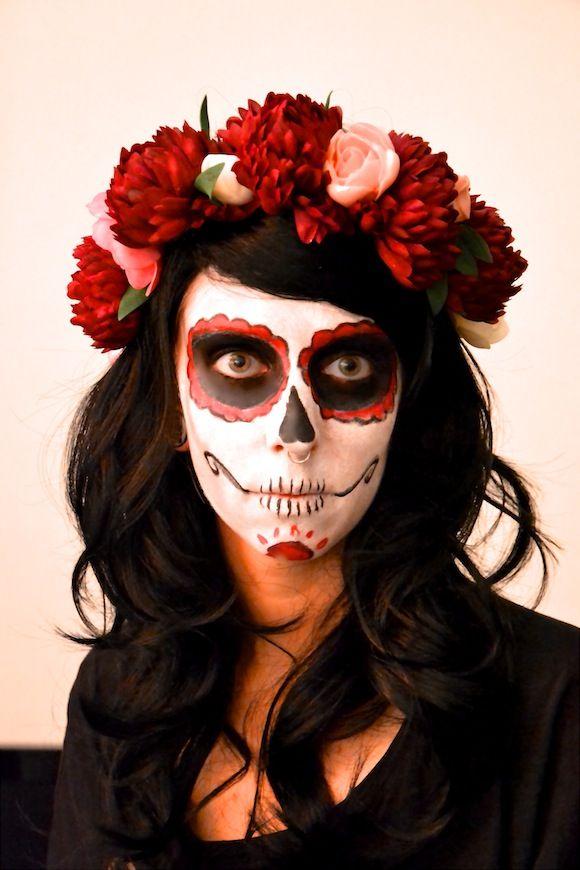 Une jolie couronne de fleurs pour Halloween
