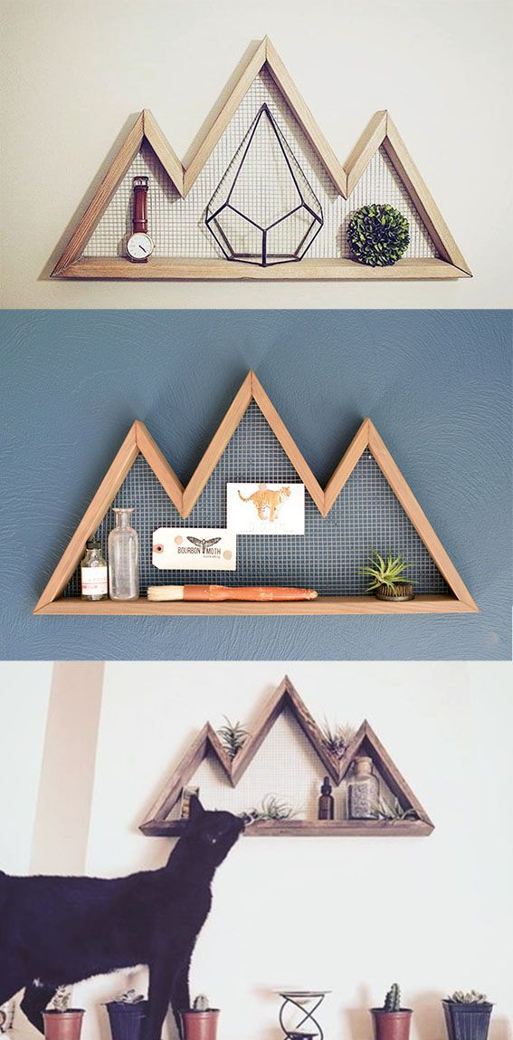 Mountain Peaks Wall Shelf // http://seattlestravels.com/favourite-etsy-holiday-gifts/