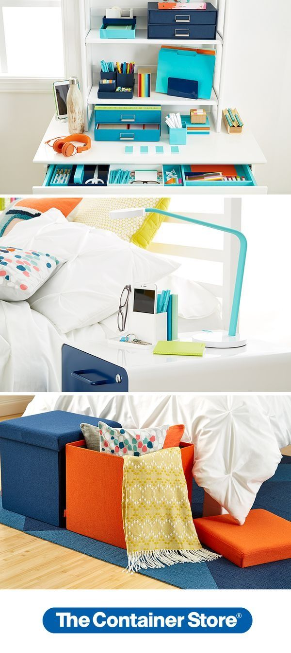 Add Color, Style And Storage To Your Dorm Room! From Desk Accessories To  Bedside Part 70