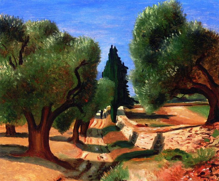 Road among the Olive Trees in Provence / André Derain - circa 1926-1928