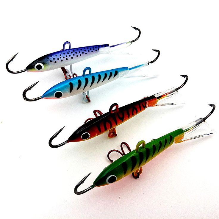 4 unids 18g 83mm color Señuelos de Cuchara de Metal Señuelos de Pesca de Hielo marca Cebo Duro del Agua Dulce Bass Leucomas Del Tipo de Pez de Caza Y Pesca 023
