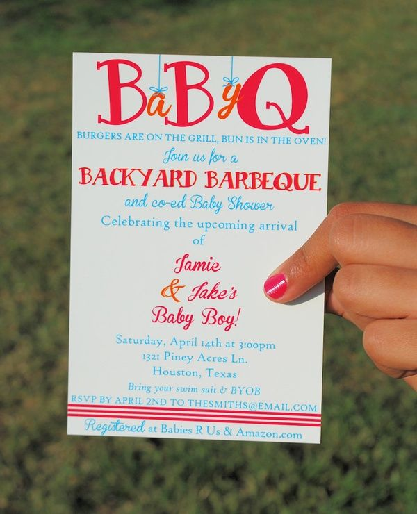 printable baby shower bbq invitation iu0027ve always liked the idea of getting the