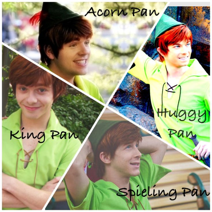Disneyland's 4 Peter Pans (although Spieling  Pan no longer works for Disneyland unfortunately) Spieling and Huggy are my favorites