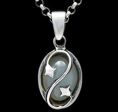 LUXURY MOONSTONE 925 STERLING SILVER PENDANT