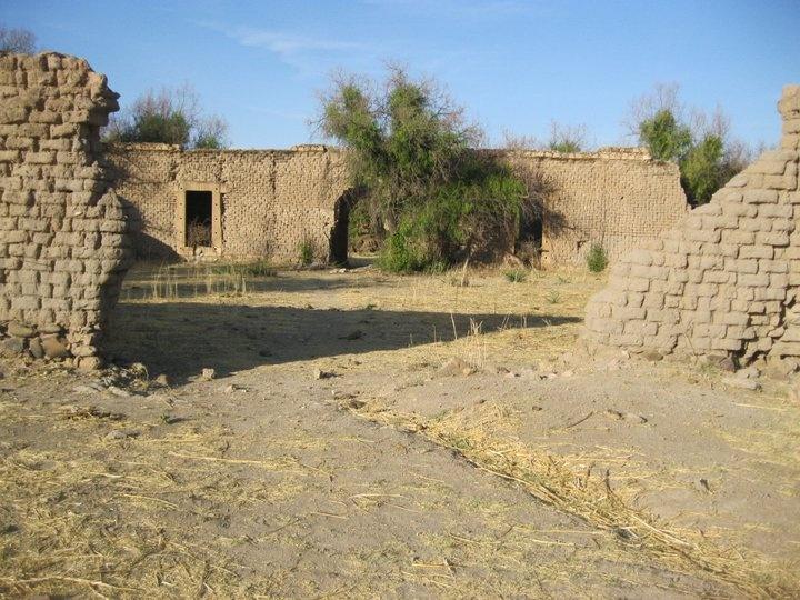 Front view of La Hacienda en Villahermosa en Nuevo Ideal, Durango, Mexico.