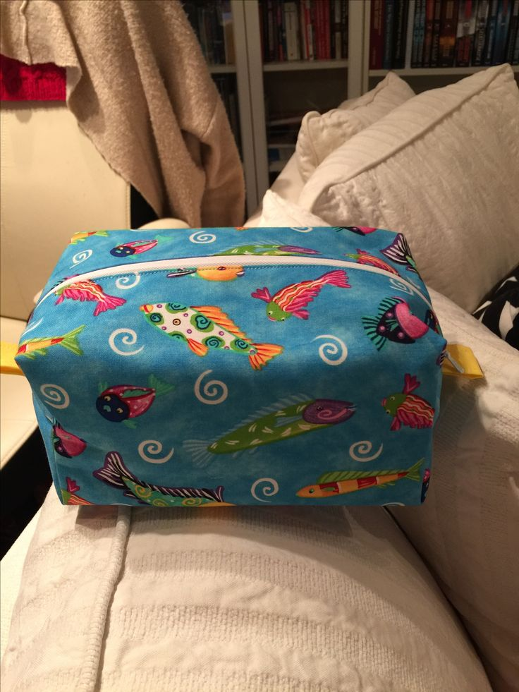 My first cosmetic zipper box pouch. Daughter was very very happy. Followed instructions of Melanie Ham on youtube.