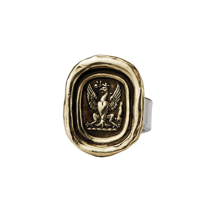 Graduation gift | Follow Your Dreams talisman ring in bronze by Pyrrha
