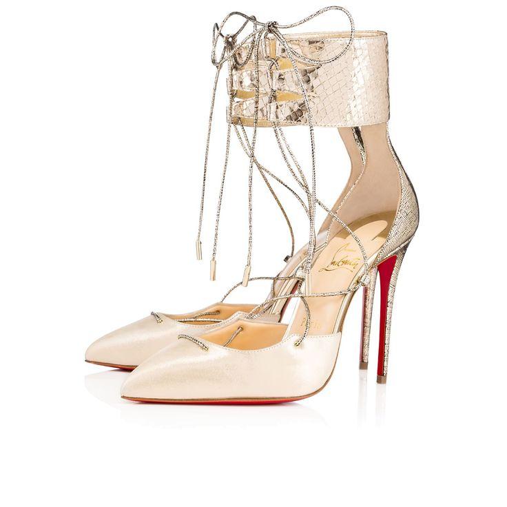 CHRISTIAN LOUBOUTIN Corsankle 100 Version Platine Lame Mercure - Women Shoes  - Christian Louboutin. #. Marvel ShoesRed Bottom ...