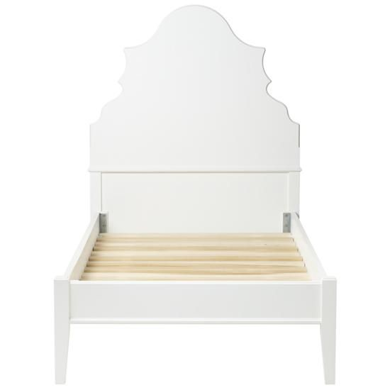 Kids' Beds: White Oversized Headboard with Beveled Curves in Beds   The Land of Nod