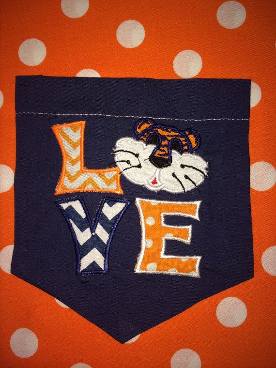 Auburn College Pocket TShirt by KellyJoKreations on Etsy, $25.00