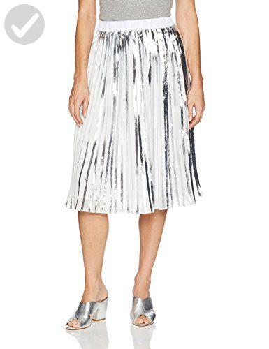 Catherine Catherine Malandrino Women's Duncan Skirt, Silver/White, M - All about women (*Amazon Partner-Link)
