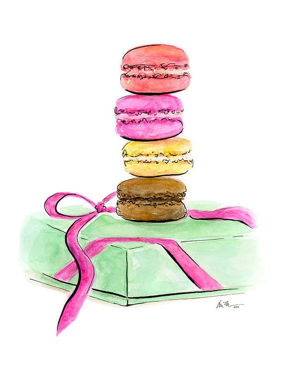 images about Macarons illustrations Macaroons
