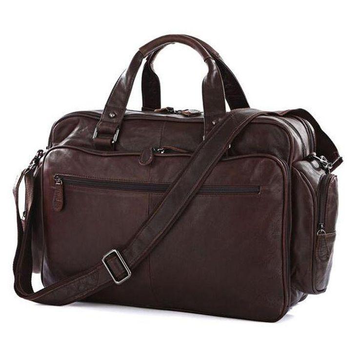 100% Genuine Leather Men Bag Fashion Real Leather Handbag Briefcase Business Laptop Shoulder Bag Top Quality Brown Messenger bag