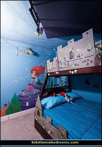 Under The Sea Theme Bedrooms Ocean Theme Bedrooms Little Mermaid