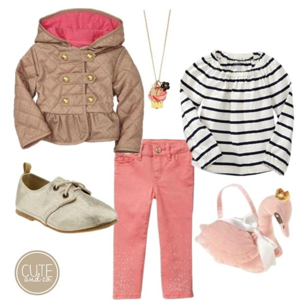 Adorable little girl outfit to transition from summer to spring. Love! XOXO.