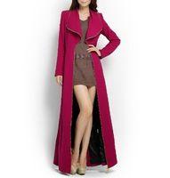 2017 Уличная мода женская осень длинное пальто slim большой лацкан пальто сплошной цвет женщин плюс размер длинные пальто шанца пальто