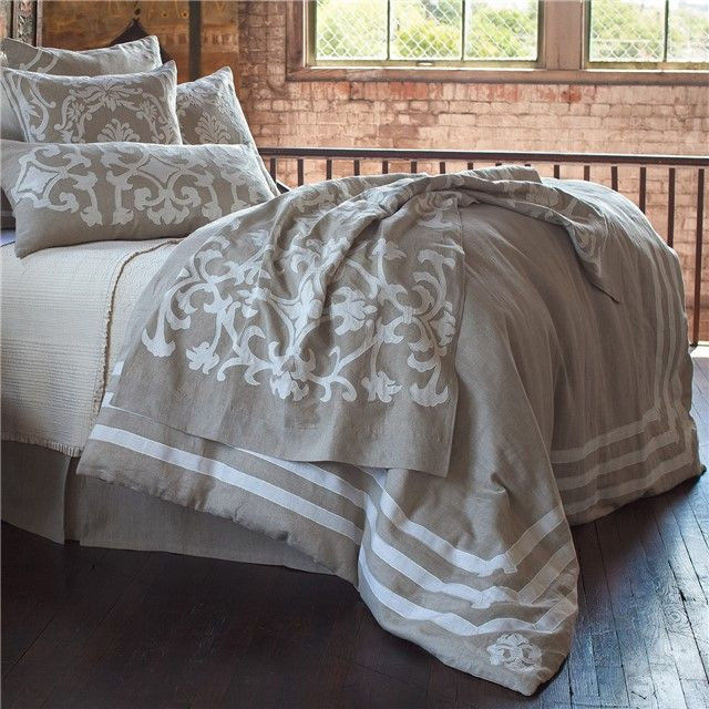 Lili Alessandra Angie Natural Duvet Cover or Set LALD268NWL