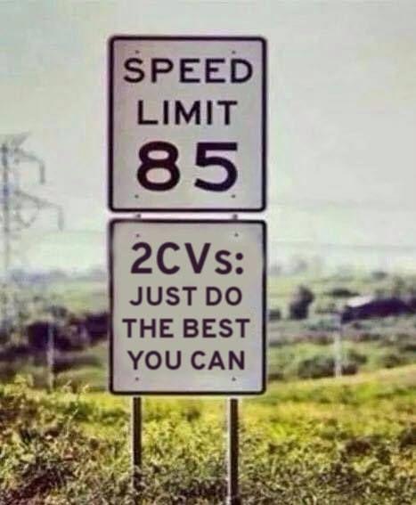 Citroën 2CV sign